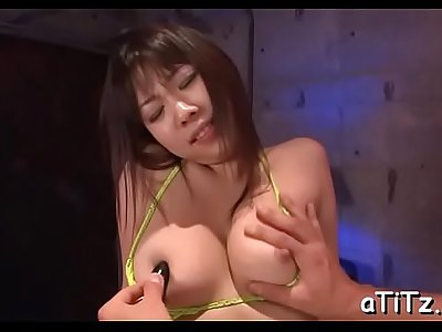 Luxurious busty nipponese babe Hina Tokisaka sucking chili dogs like a real pro