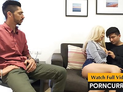 PORNCURRY Indian Threesome Sex First time in History. 2 Indian men fuck European Model.